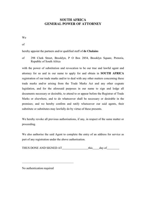 general power of attorney template general power of attorney form in word and pdf formats