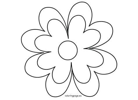 flower template 5 petals printable flower petal template pattern for shapes 5