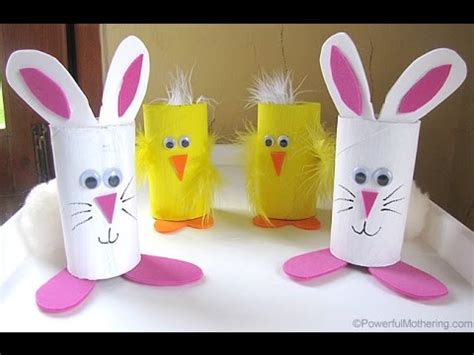 Toilet Paper Roll Easter Crafts - 3 easy easter bunny diy recycled toilet paper roll