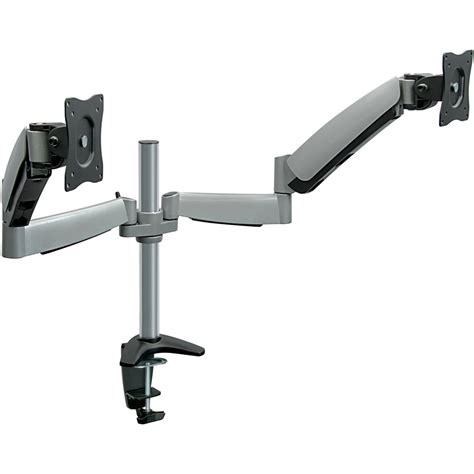 Mount It Height Adjustable Monitor Desk Mount With Dual Dual Monitor Arm Desk Mount