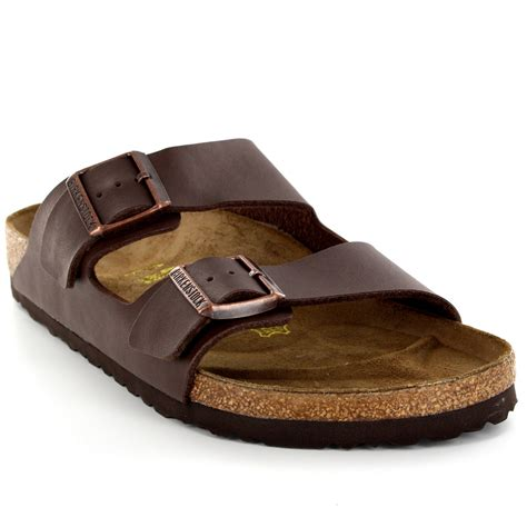 leather buckle sandals mens birkenstock arizona leather buckle summer