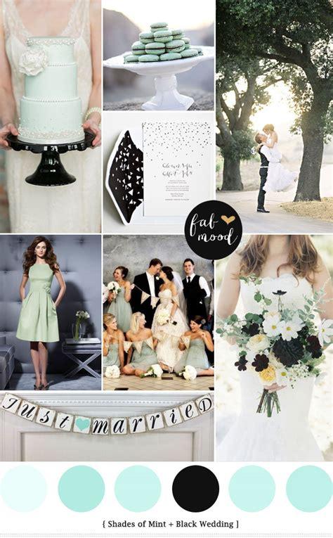 mint black wedding colors palette mint black white wedding