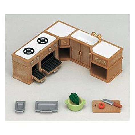 Sylvanian Families Cupboard With Oven 5023 1 2 indoor sylvanian families sets bathtub and kitchen play kitchen cabinet and bathtub sets