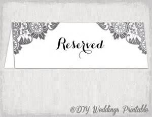 Reserved Cards For Tables Templates by Reserved Card Template Antique Lace Printable