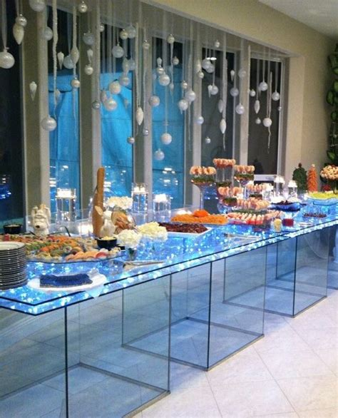 home trends and design buffet lighted acrylic food display tables food displays