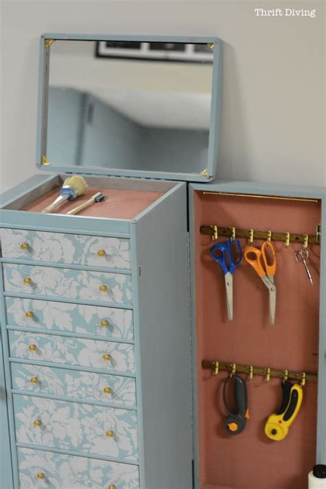 make jewelry armoire get organized turn an jewelry box into a diy craft
