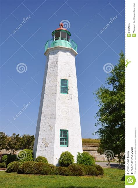 old point comfort old point comfort lighthouse royalty free stock photo