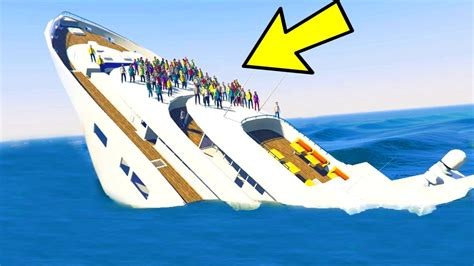 sinking boat gta 5 can you sink the yacht in gta 5 youtube