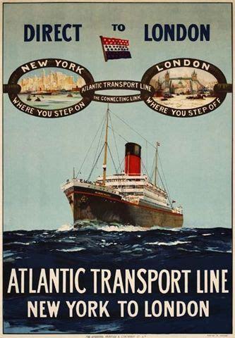 boat cruise london to new york atlantic transport line new york to london steamship