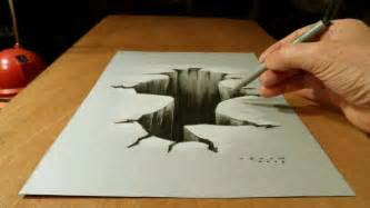 3d Drawing 3d Drawing Hole By Vamosart On Deviantart