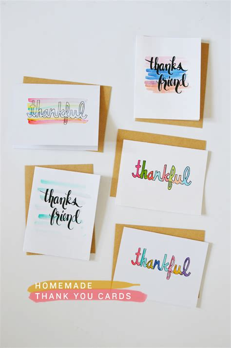 diy printable thank you cards diy homemade thank you cards cakies