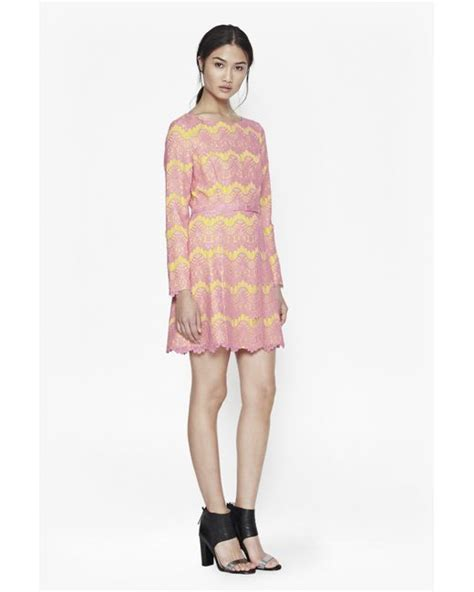 Is This Connection Shift The Dress Of The Season by Connection Linea Lace Shift Dress In Pink Lyst