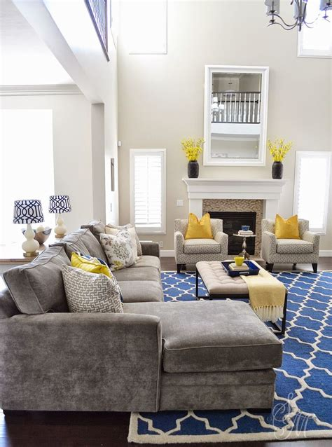 blue and yellow home decor blue and yellow living room design home design
