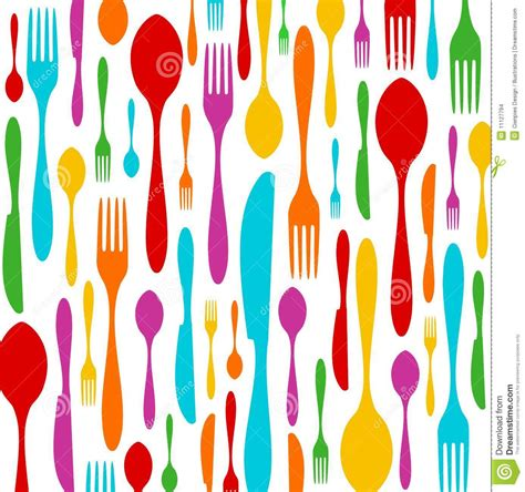 a pattern language for developing privacy enhancing technologies cutlery colorful pattern on white stock images image