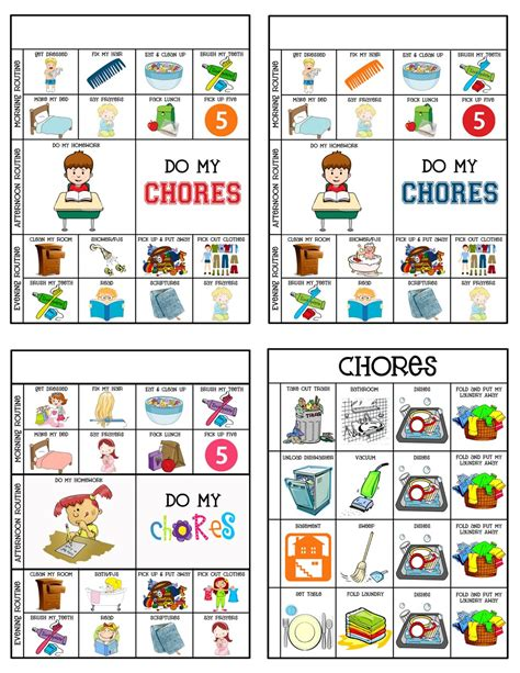 6 best images of 5 year old chore chart 3 year old chore 6 best images of chore chart icons kid chore charts