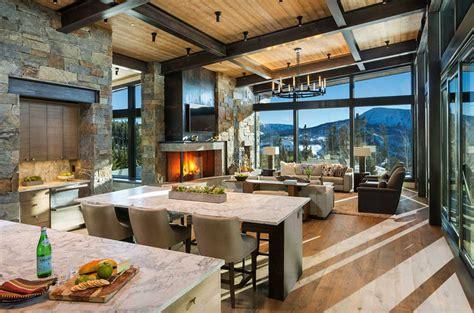 modern rustic mountain home  spectacular views  big