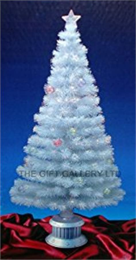 6ft white fibre optic christmas tree with stars and