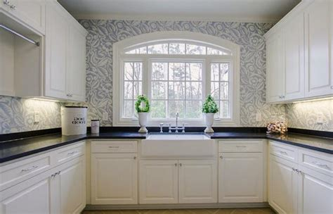 wallpaper in kitchen ideas beautiful kitchen wallpaper 4 picture enhancedhomes org