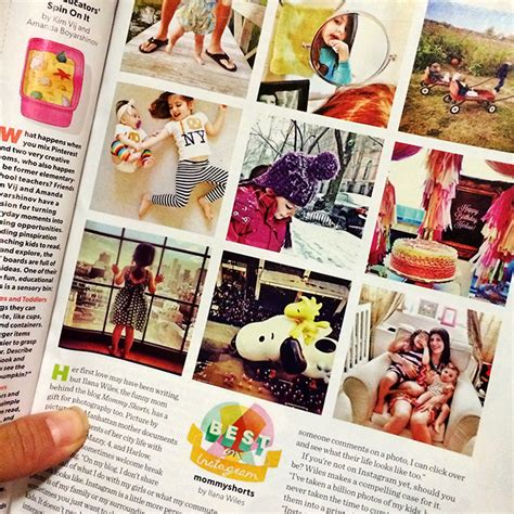 editorial design instagram my instagram feed featured in parents magazine mommy shorts