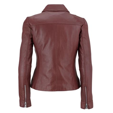 leather cycle jacket wilsons leather womens polished leather cycle