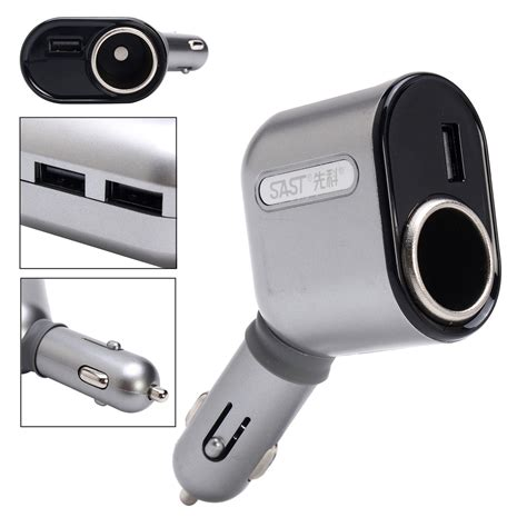 5a 3usb Three Usb Lighter Car Charger Power Adapter Cigarette M dc 12 24v car cigarette lighter socket adapter with 3 usb