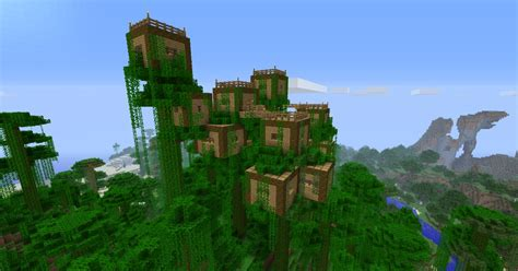 Easy To Build Treehouse - dschungel baumhaus minecraft project