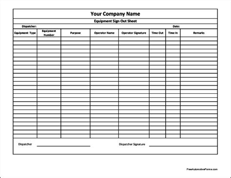 computer sign out sheet pertamini co