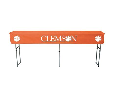 clemson tigers tailgate table canopy tailgating table cover clemson table covers