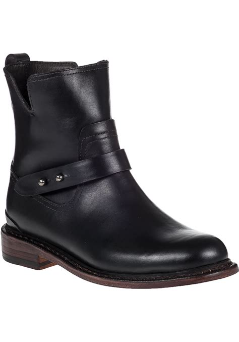 rag and bone boots rag bone ashford leather ankle boots in black lyst