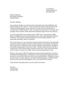 morgan stanley cover letter cover letter samples