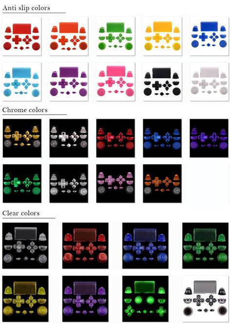 ps4 controller solid white light different colors solid white original button sets for sony