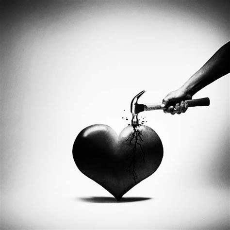 imagenes de amor triste en blanco y negro im 225 genes de corazones rotos en blanco y negro para