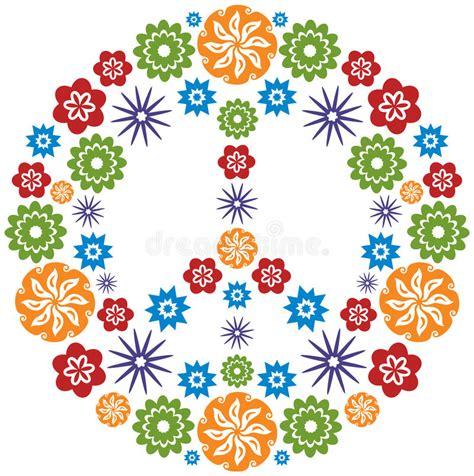simbolo dei fiori simbolo di e di pace reso dei fiori multicolore