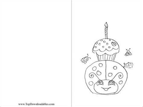 ladybug birthday coloring pages free printable ladybug decoration card coloring page