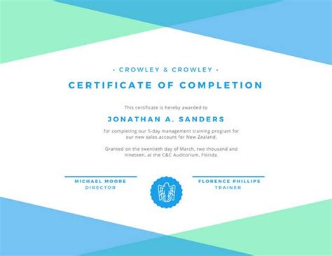 design certificate of completion customize 268 completion certificate templates online canva