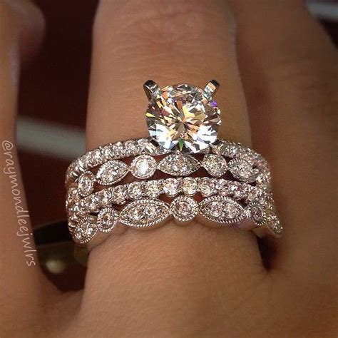 1000 ideas about stacked wedding rings on