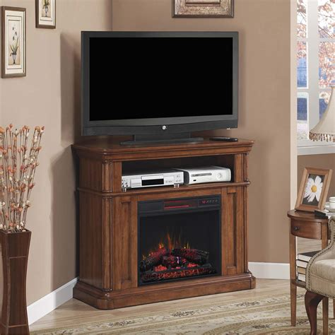Electric Fireplace Media Center Oakfield Wall Corner Infrared Electric Fireplace Media Center In Pecan Birch 23de8202 P273