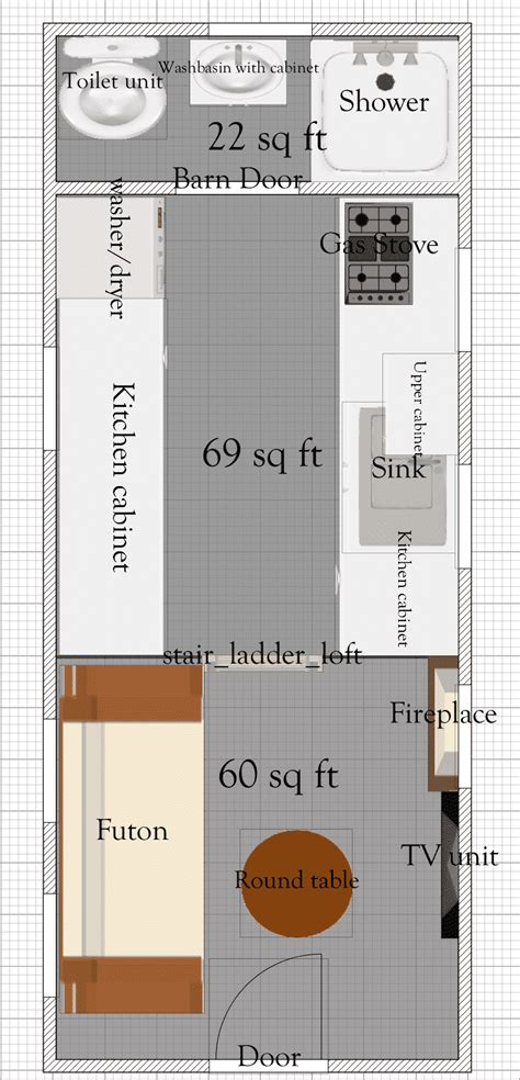 tiny house free plans free tiny house floor plans 8 x 20 tiny house plan