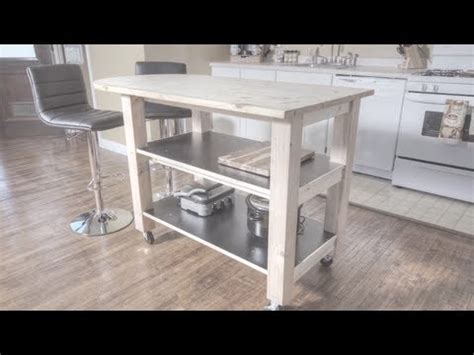 how to kitchen island how to build a kitchen island on wheels youtube
