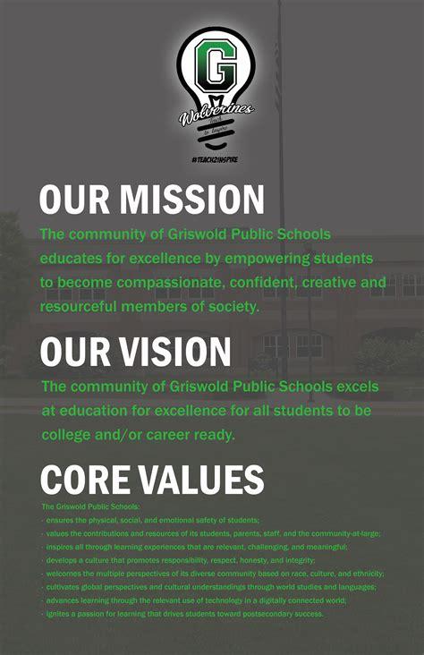 mission vision core values griswold public schools