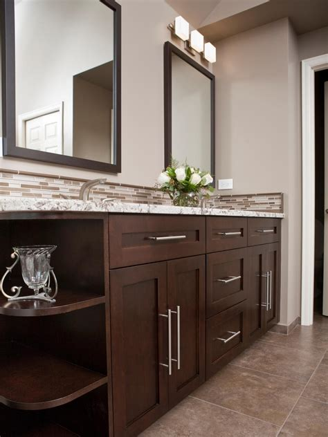 dark brown bathroom cabinets choosing a bathroom vanity hgtv