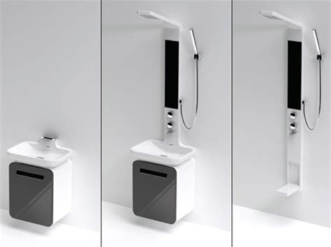 Small Space Design: 15 Fold Up, All In One Bathrooms