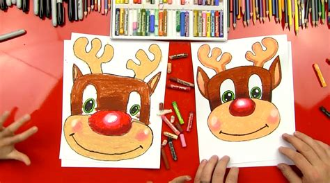 draw rudolph art  kids hub