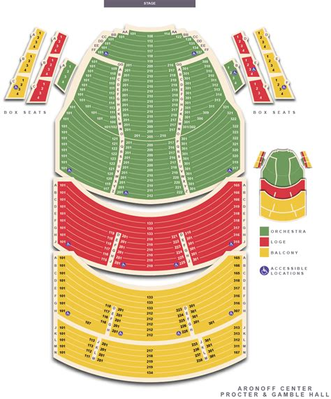aronoff center seating seating charts cincinnati arts