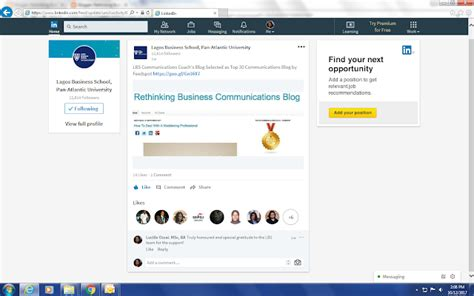 Lbs Mba India Linkedin by Rethinking Business Communications Awards Recognition