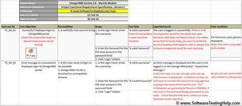 Writing Test Cases From Srs Document With Sle Test Cases For Our Live Project Software Test Scenario Template