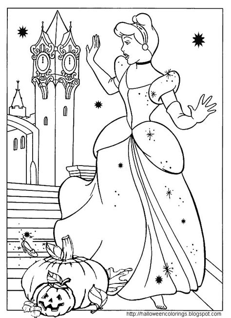 coloring pages halloween princess halloween colorings