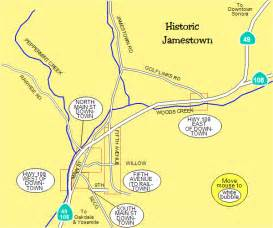 jamestown california vicinity tuolumne county map