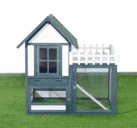 rabbit hutch chicken coop cage wooden pet house backyard
