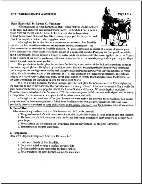 reading comprehension test advanced pdf 10 free reading tests for students in grades 5 through 9